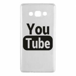 Чохол для Samsung A7 2015 Youtube vertical logo