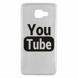 Чохол для Samsung A7 2016 Youtube vertical logo