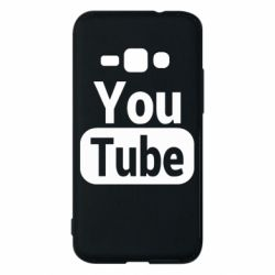 Чохол для Samsung J1 2016 Youtube vertical logo