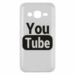 Чохол для Samsung J2 2015 Youtube vertical logo
