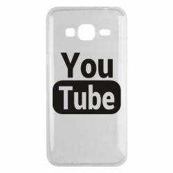 Чохол для Samsung J3 2016 Youtube vertical logo