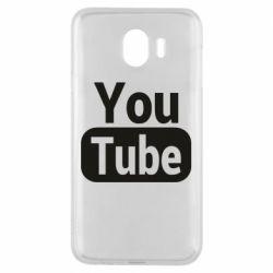 Чохол для Samsung J4 Youtube vertical logo