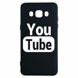 Чохол для Samsung J5 2016 Youtube vertical logo