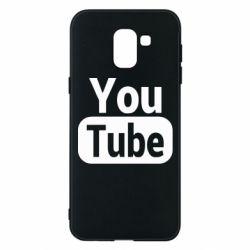 Чохол для Samsung J6 Youtube vertical logo