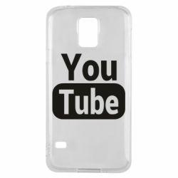 Чохол для Samsung S5 Youtube vertical logo