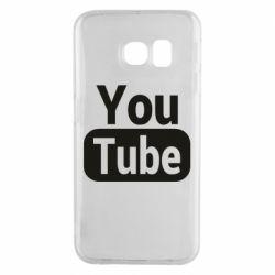 Чохол для Samsung S6 EDGE Youtube vertical logo