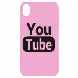 Чохол для iPhone XR Youtube vertical logo