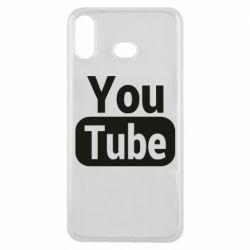 Чохол для Samsung A6s Youtube vertical logo