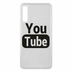Чохол для Samsung A7 2018 Youtube vertical logo