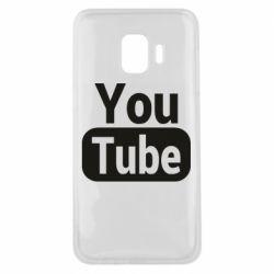 Чохол для Samsung J2 Core Youtube vertical logo