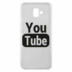 Чохол для Samsung J6 Plus 2018 Youtube vertical logo