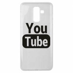 Чохол для Samsung J8 2018 Youtube vertical logo