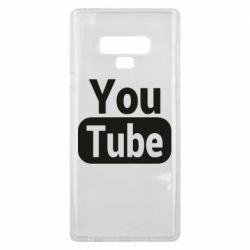Чохол для Samsung Note 9 Youtube vertical logo