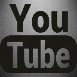 Наклейка Youtube vertical logo
