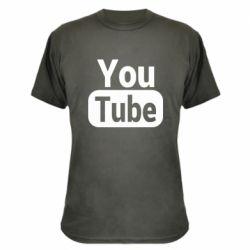 Камуфляжна футболка Youtube vertical logo
