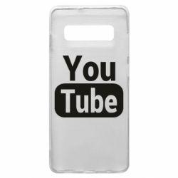 Чохол для Samsung S10+ Youtube vertical logo