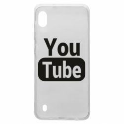 Чохол для Samsung A10 Youtube vertical logo