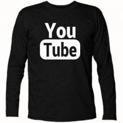 Футболка з довгим рукавом Youtube vertical logo
