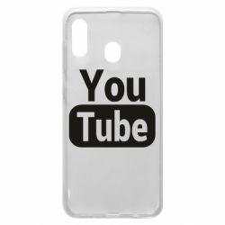 Чохол для Samsung A30 Youtube vertical logo