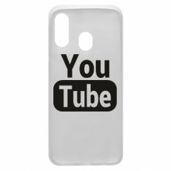 Чохол для Samsung A40 Youtube vertical logo