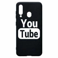 Чохол для Samsung A60 Youtube vertical logo