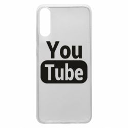 Чохол для Samsung A70 Youtube vertical logo