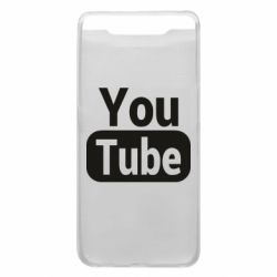 Чохол для Samsung A80 Youtube vertical logo