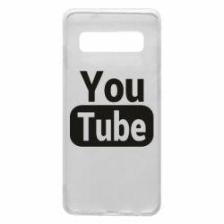 Чохол для Samsung S10 Youtube vertical logo