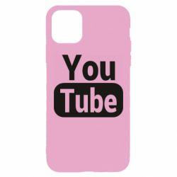 Чохол для iPhone 11 Pro Max Youtube vertical logo