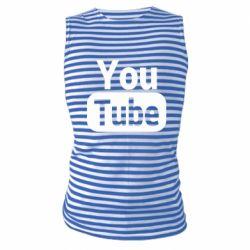Майка-тільняшка Youtube vertical logo