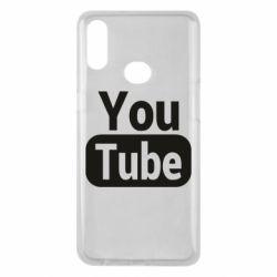 Чохол для Samsung A10s Youtube vertical logo