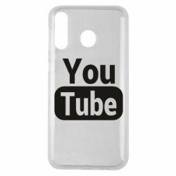Чохол для Samsung M30 Youtube vertical logo