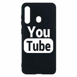 Чохол для Samsung M40 Youtube vertical logo