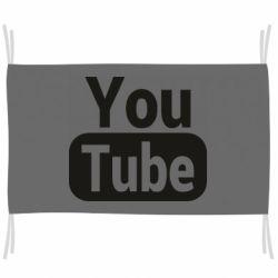 Прапор Youtube vertical logo