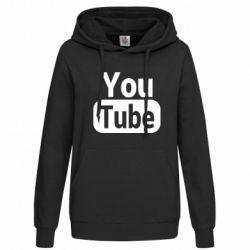 Толстовка жіноча Youtube vertical logo
