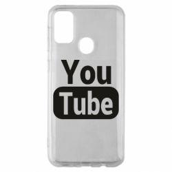 Чохол для Samsung M30s Youtube vertical logo