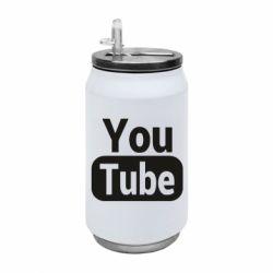 Термобанка 350ml Youtube vertical logo
