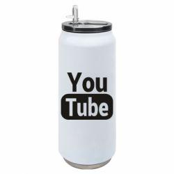 Термобанка 500ml Youtube vertical logo