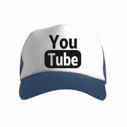 Дитяча кепка-тракер Youtube vertical logo
