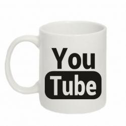 Кружка 320ml Youtube vertical logo