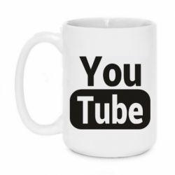 Кружка 420ml Youtube vertical logo