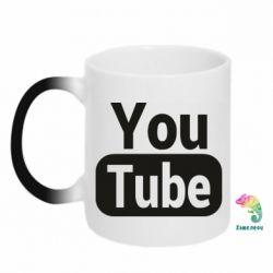 Кружка-хамелеон Youtube vertical logo