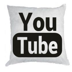 Подушка Youtube vertical logo