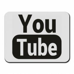 Килимок для миші Youtube vertical logo