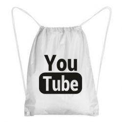 Рюкзак-мішок Youtube vertical logo