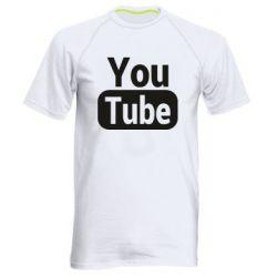 Чоловіча спортивна футболка Youtube vertical logo