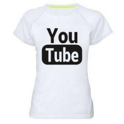 Жіноча спортивна футболка Youtube vertical logo