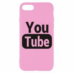 Чохол для iPhone 7 Youtube vertical logo