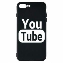 Чохол для iPhone 7 Plus Youtube vertical logo