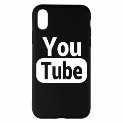 Чохол для iPhone X/Xs Youtube vertical logo